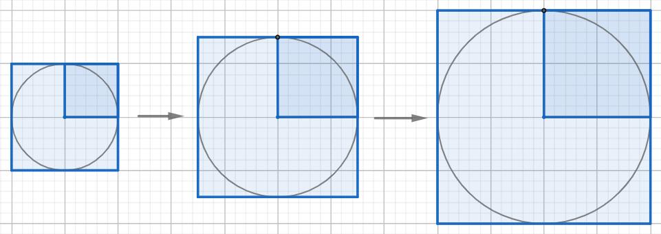 3円(直径、正方形)