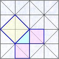 見えますか?タイルの模様からピタゴラスの定理