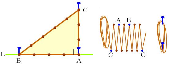 3-4-5ロープ三角形