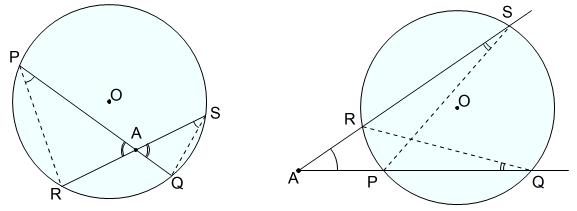 方べきの定理 円外